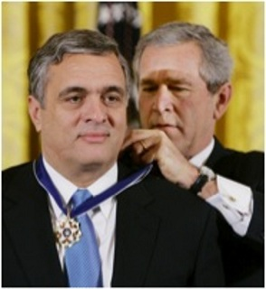 President Bush awarding National Medal of Honor to George Tenet, Dec. 14, 200