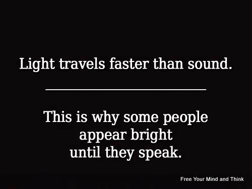 why is light faster than sound