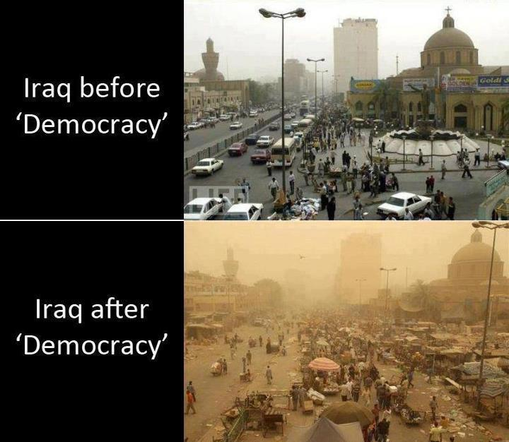 Iraq before and after democracy