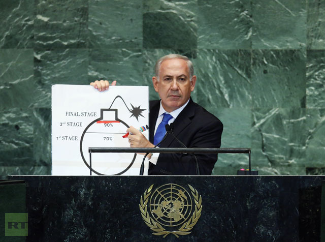 'Nuclear Iran same as nuclear-armed al-Qaeda': Netanyahu calls for Iran 'red line'