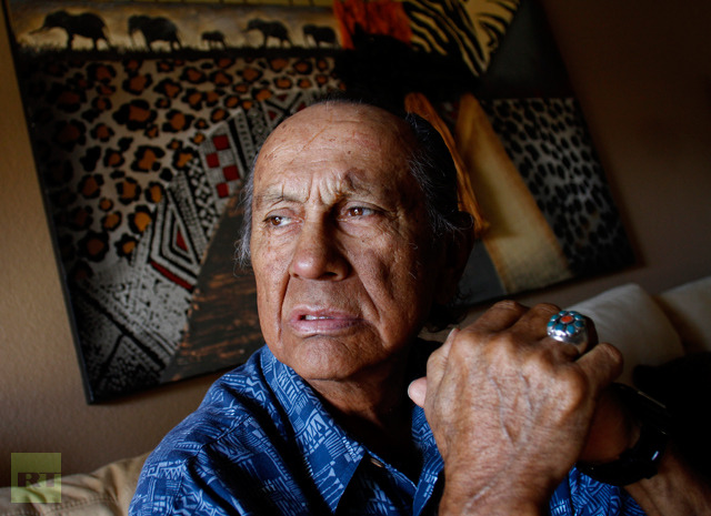 Russell Means poses for a portrait at his home in Scottsdale, Arizona, October 28, 2011 (Reuters / Joshua Lott)