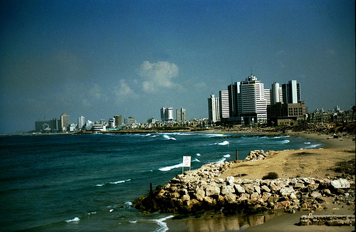 Explosion, air raid sirens heard in Tel Aviv for first time since Gulf War
