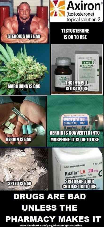 Drugs are bad...