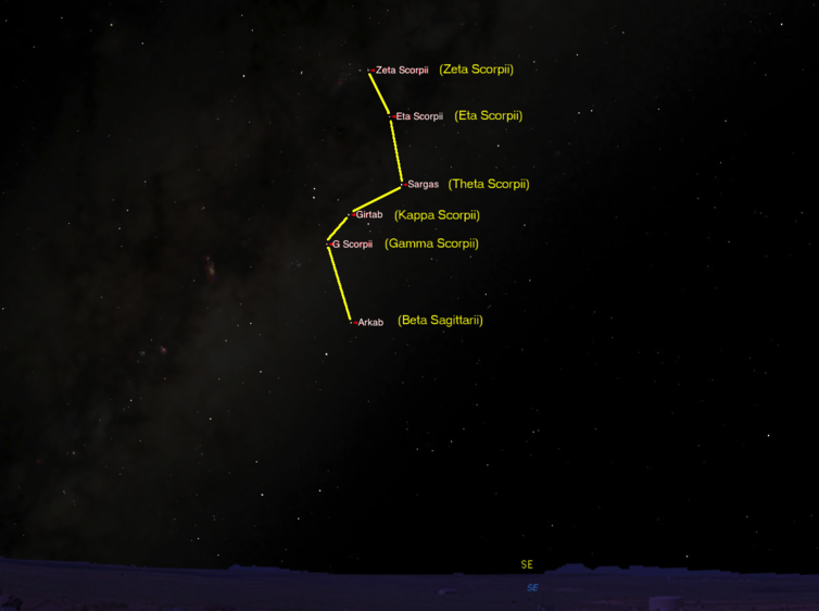Star map route to the Carnarvon Gorge. Starry Night Education
