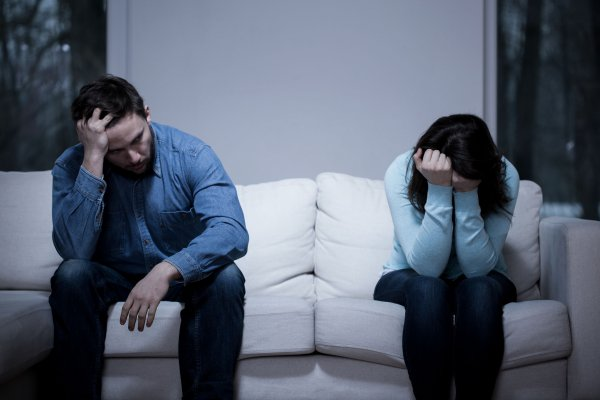 39243747 - picture of young couple having difficulties in relationship