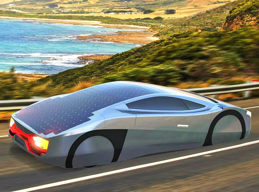 Impressive Electric Sports Car Can Drive All Day Using The Power Of The Sun