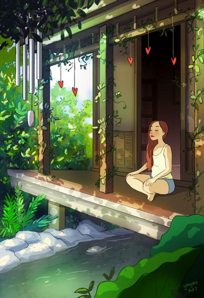 happiness living alone illustrations yaoyao ma van as 125 5991aca832de0  700