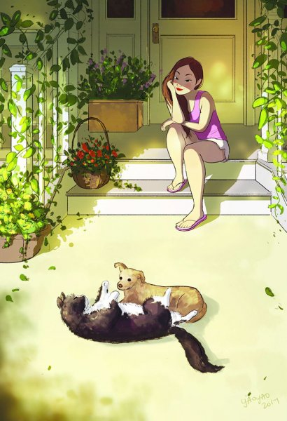 happiness living alone illustrations yaoyao ma van as 128 5991ae2687ca1  700