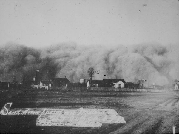 sandstorm over midland texas