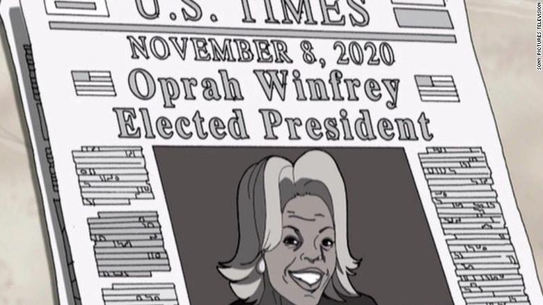 An Oprah 2020 Presidency Win Was Predicted By Cartoon 12 Years Ago