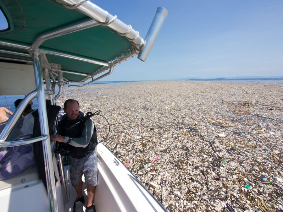 'Sea Of Plastic' Discovered In The Caribbean Stretches Miles And Is Choking Wildlife PA041608-900x675