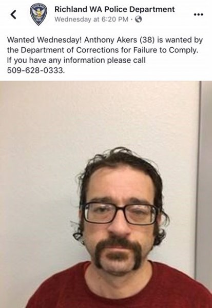 guy hilariously turns himself in to his own wanted post on facebook