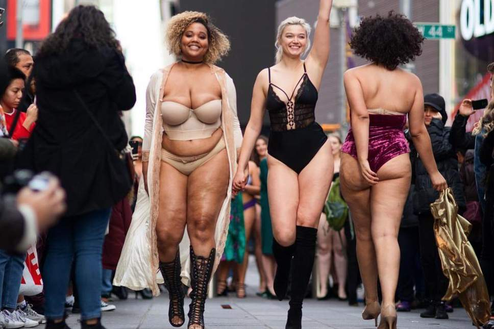 e3d6d386b57da Body Positive Catwalk At Times Square  Models Of All Sizes Come Together In  A Unique Initiative