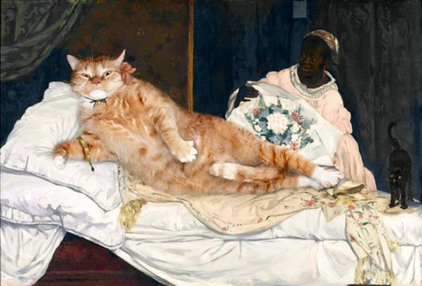 """cats10 """"Olympia"""" by Édouard Manet"""