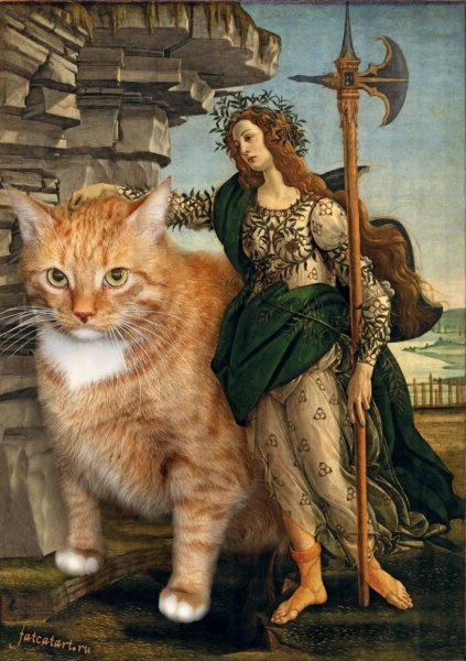 """cats13 """"Pallas and the Centaur"""" by Sandro Botticelli"""