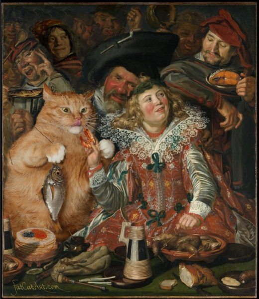 """cats15 """"Merrymakers at Shrovetide"""" by Frans Hals"""