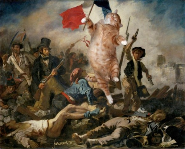 """cats20 """"Liberty Leading the People"""" by Eugene Delacroix"""