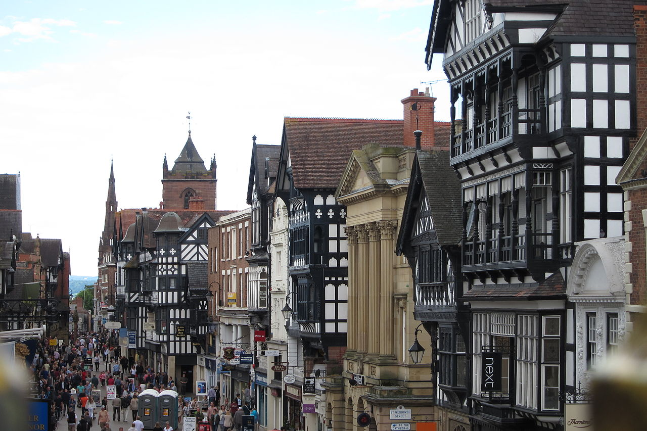 Eastgate Street from the City Wall