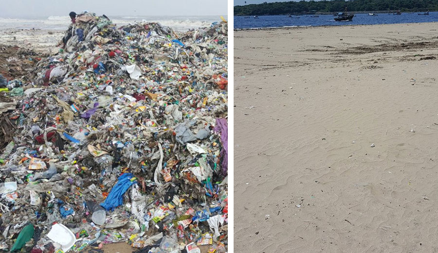 After The Largest Beach Clean Up In History Baby Turtles Returned To The Beaches Of Mumbai Versova-beach-cleanup