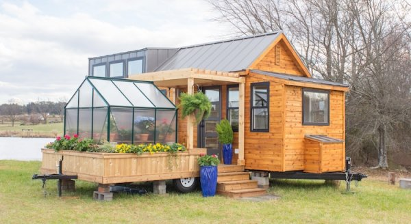 Mobile Tiny Home Comes With A Detachable Green House