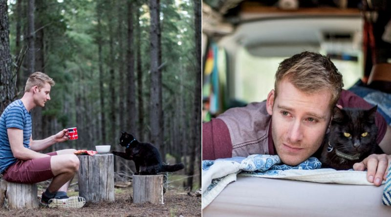 Guy Quits Job to Travel With Cat