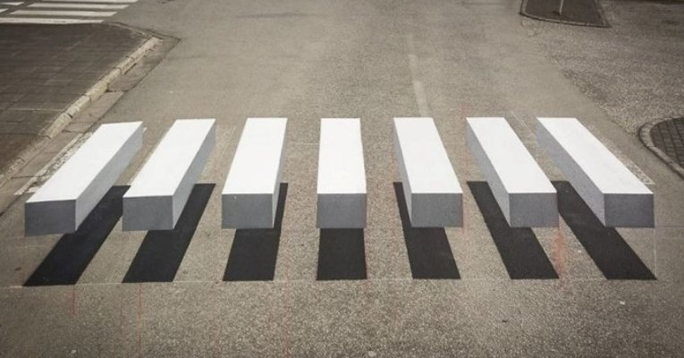 3d crosswalk forces drivers slow down