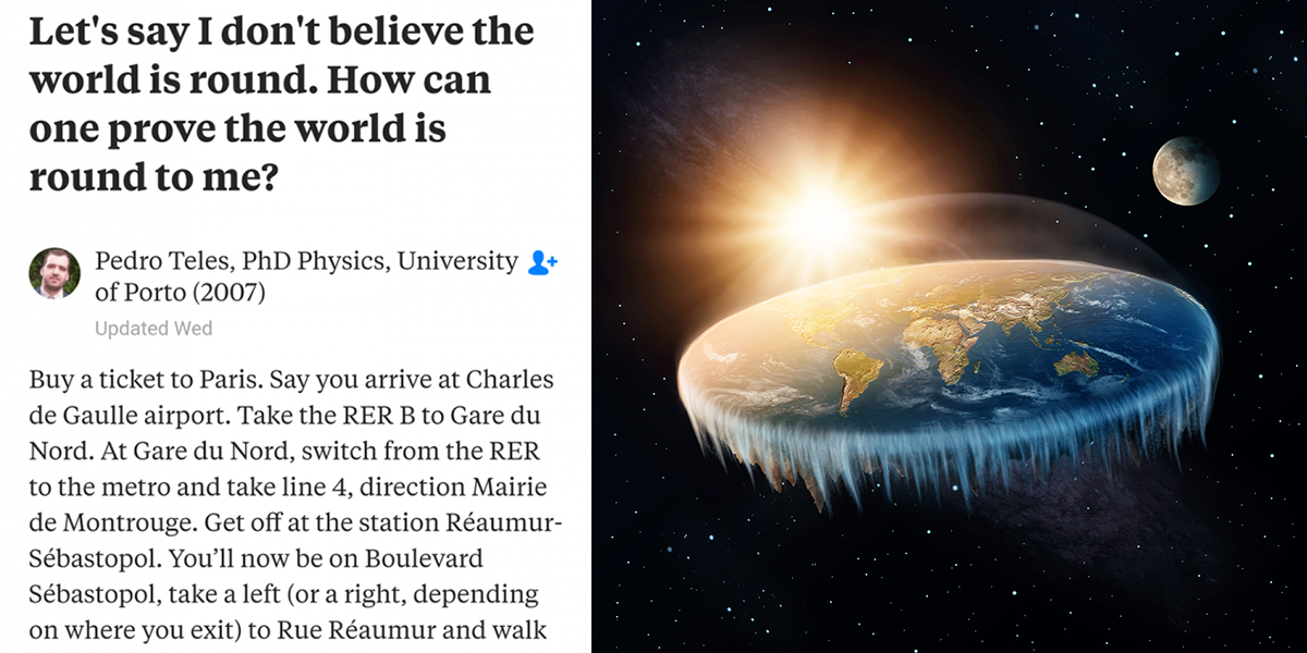 This Physics Professor Used Simple Math To Destroy Flat Earther With One Reply Reghethry