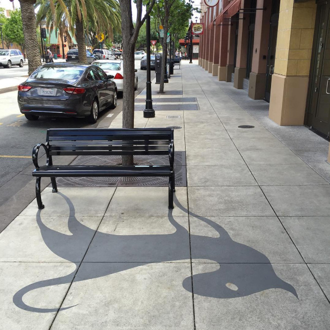 Street Artist Creates Fake Shadows And People Are Confused 1