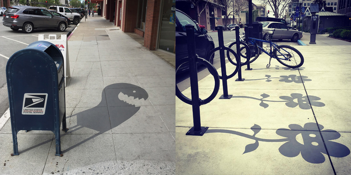 Street Artist Creates Fake Shadows And People Are Confused Ergergt