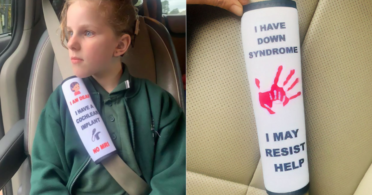 Mom Creates Seat Belt Covers To Warn Emergency Workers Of Children's Health Issues My-Post-11