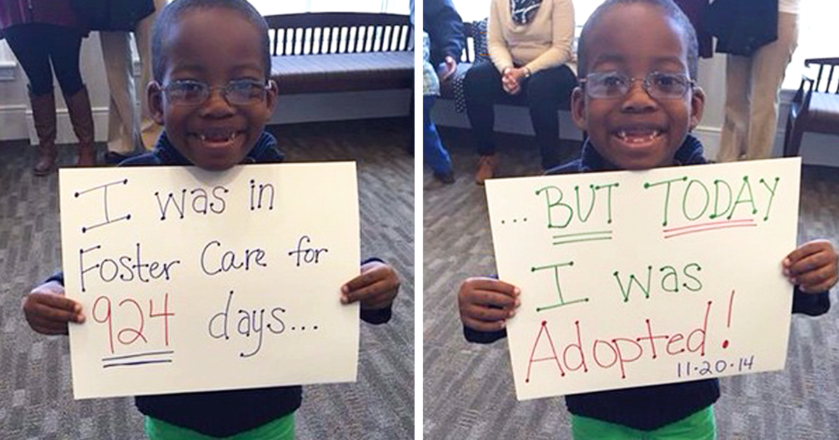 15 Heartwarming Pics Of Children Who Were Just Adopted