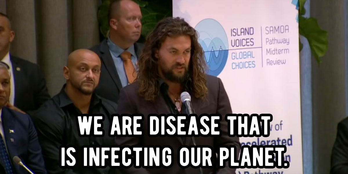 Some Say Jason Momoa Went Too Far Shaming Humanity And Calling It A Disease At The UN Climate Summit