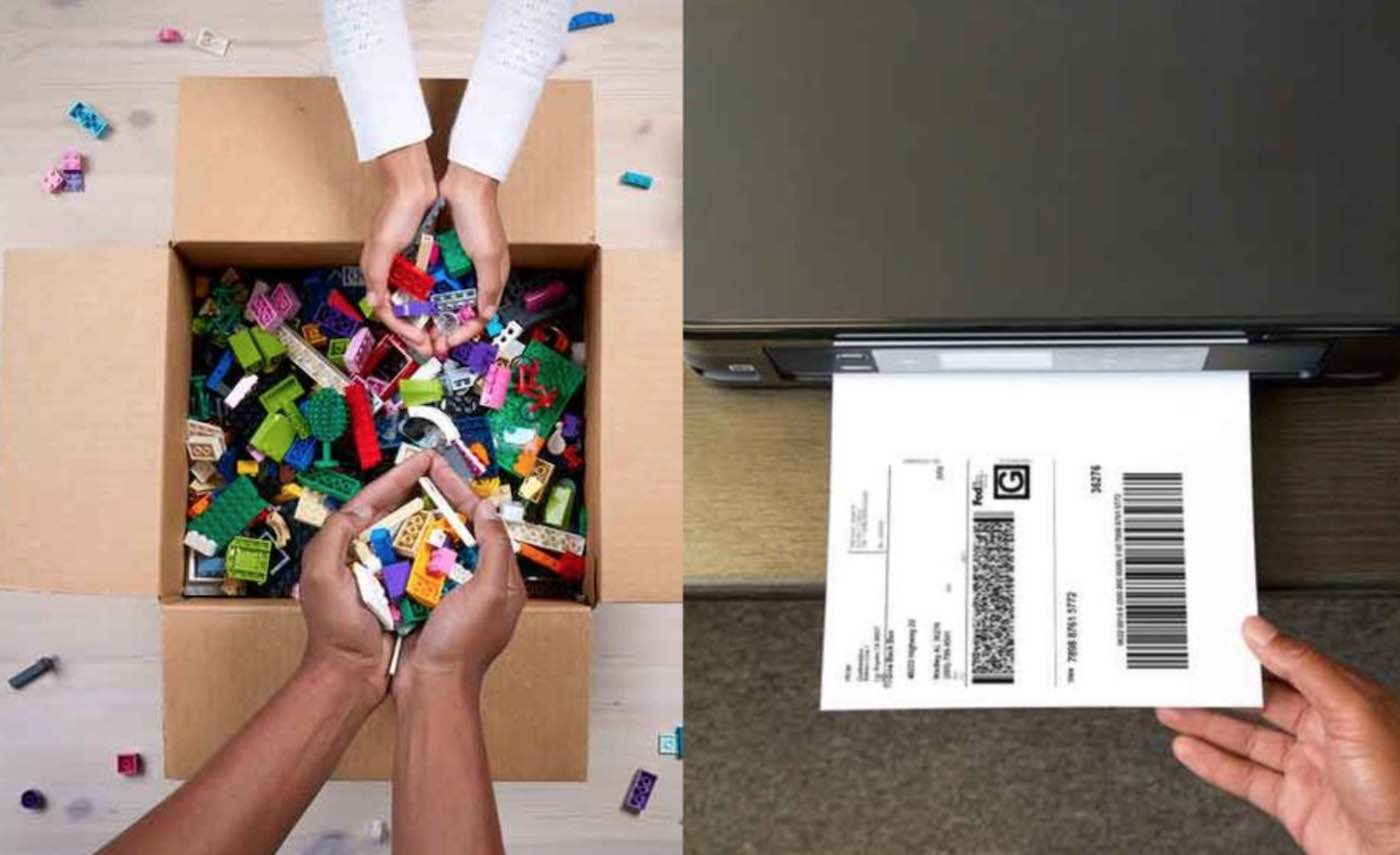 Shipping Label and LEGOs Released