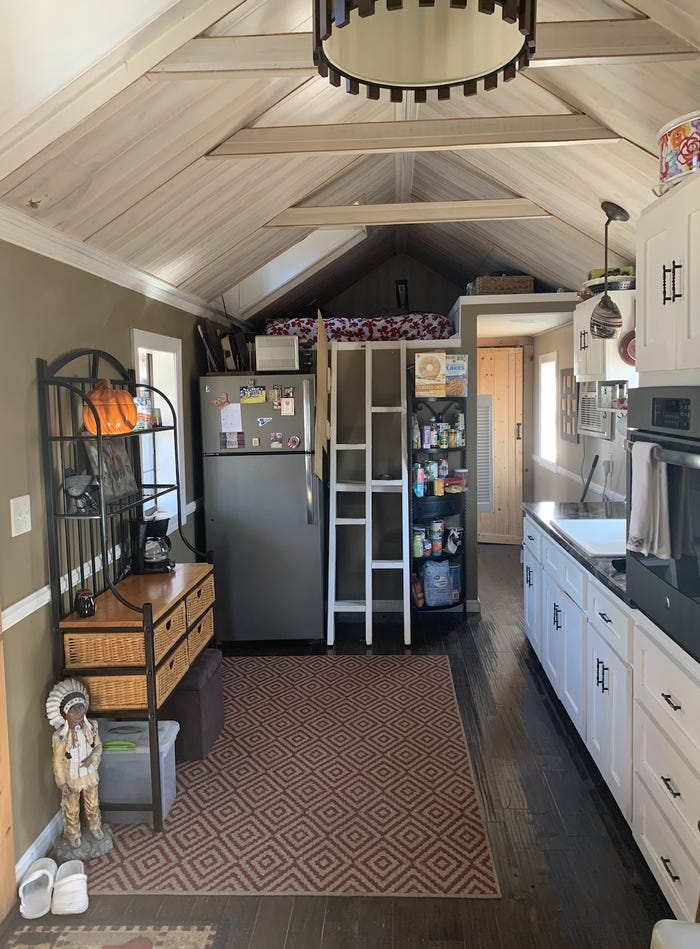 tiny-home village kitchen