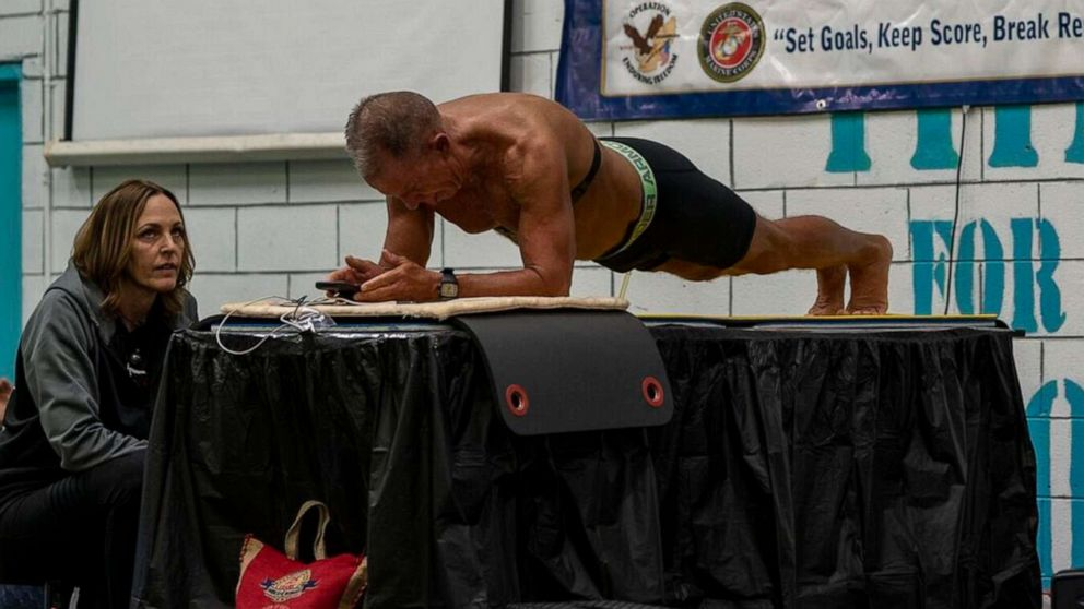 world record of an eight-hour plank