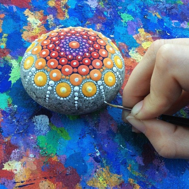 painting colorful Mandala