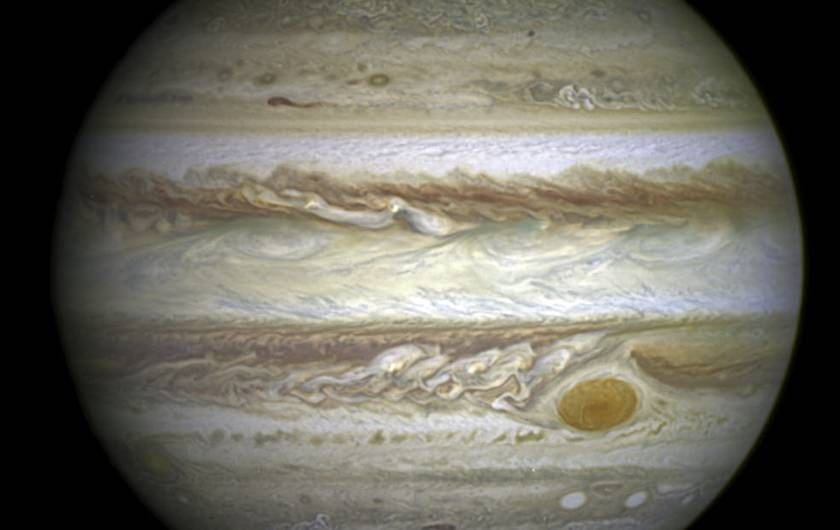 Hubble Space Telescope capured jupiter