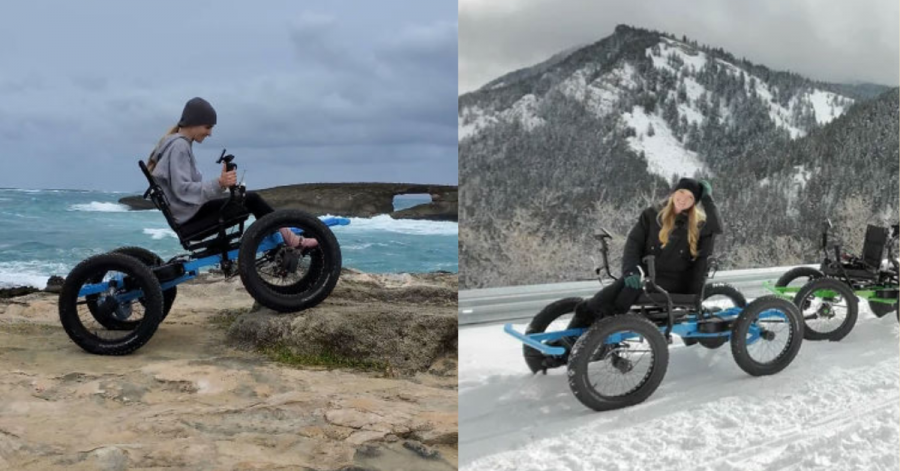 This Woman Can Go Anywhere with the custom wheelchair.