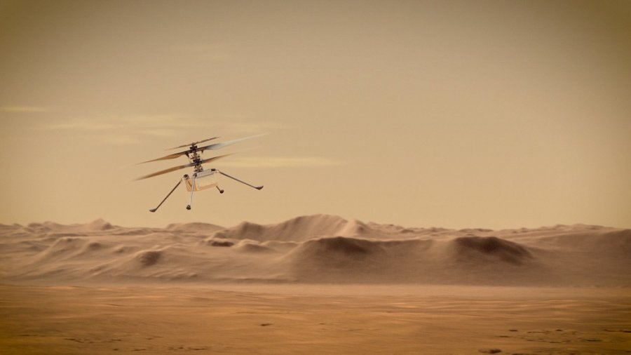 Mars Helicopter Flying