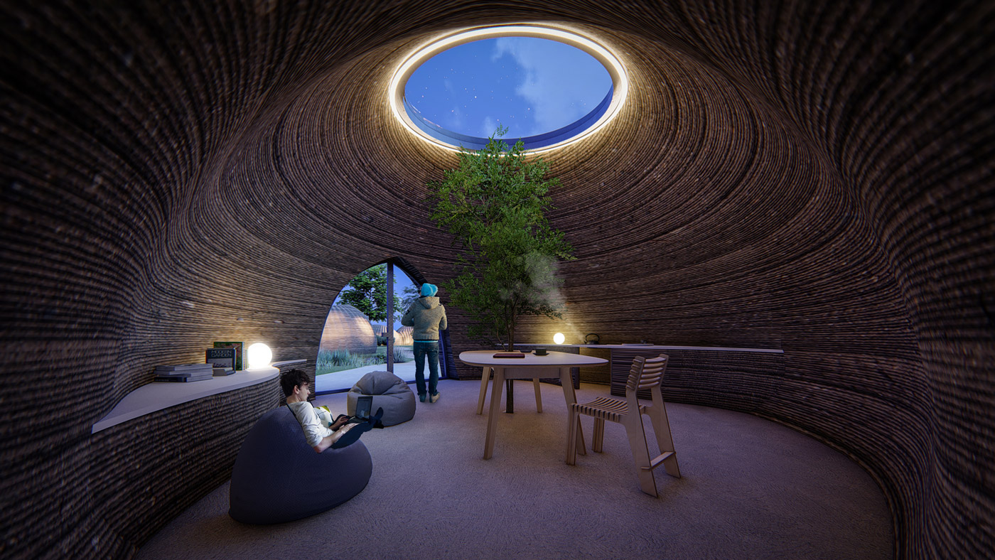 Earthen 3D-Printed House
